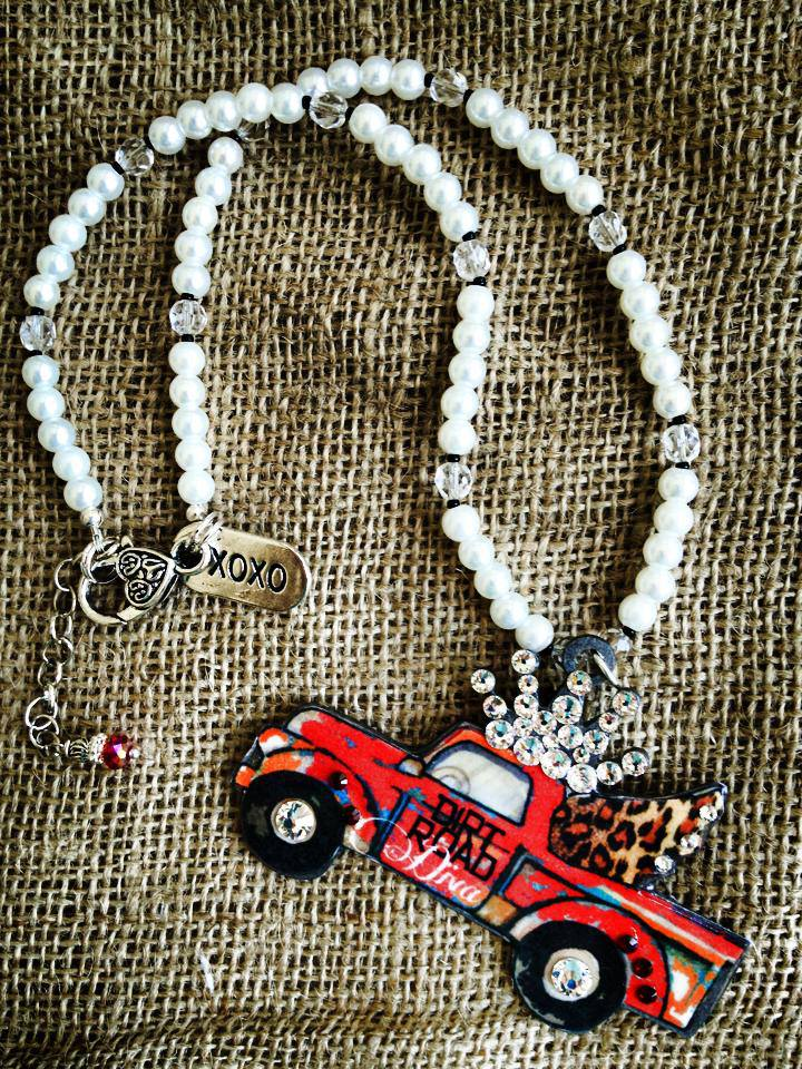 Dirt Road Diva Truck with Crown Necklace