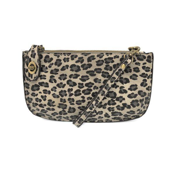 Leopard Crossbody Wristlet Clutch