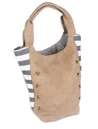 Star Studded Canvas Tote