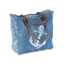Sail Away Denim Canvas Tote