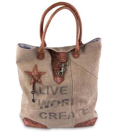Live Work Create Tote Bag
