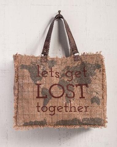 Let's Get Lost Weekender Bag