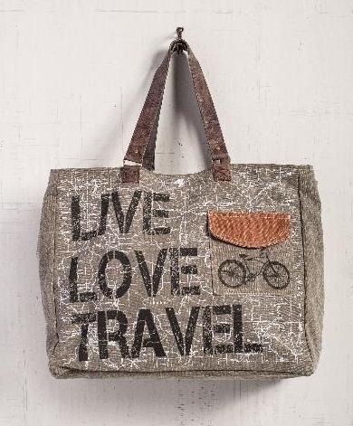 Live Love Travel Weekender Tote