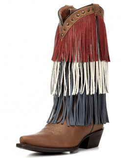 Redneck Riviera USA Fringe Boots