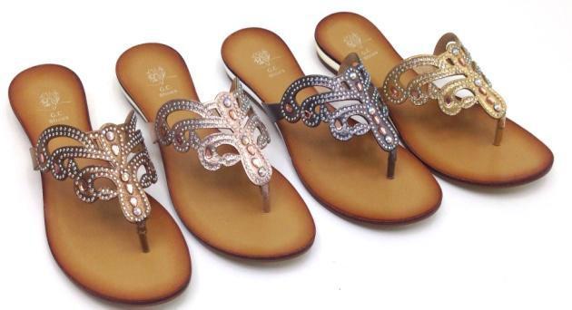 Casual Thong Jeweled Sandal