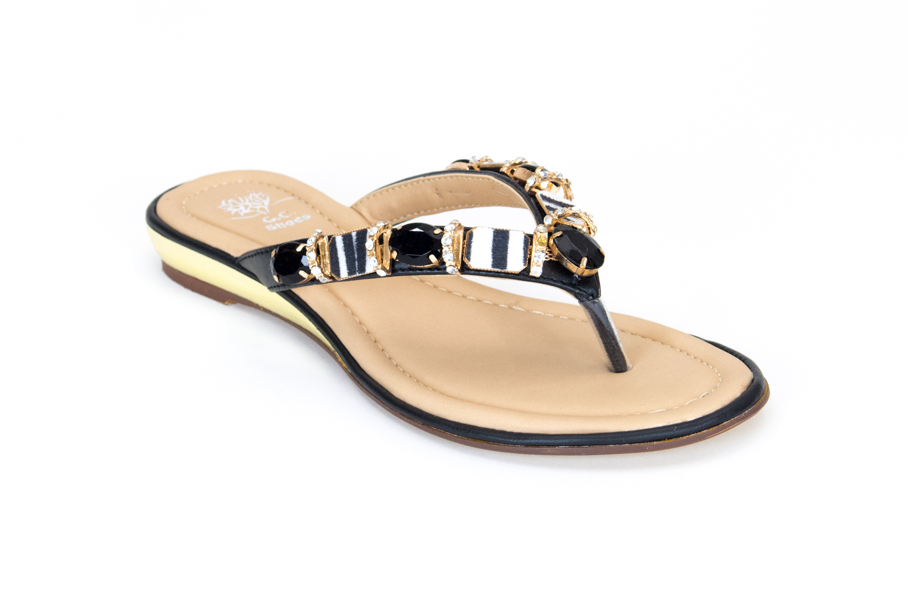 Thong Sandal with Rhinestones