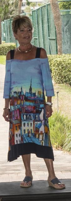 Simply Art Cold Shoulder Dress