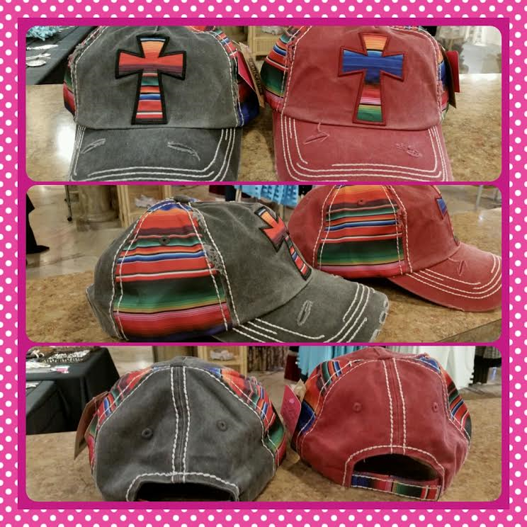 Vintage Serape Cross Hats