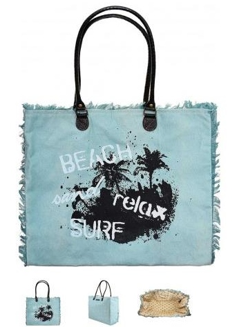 Beach, Sand, Relax, Surf Market Tote