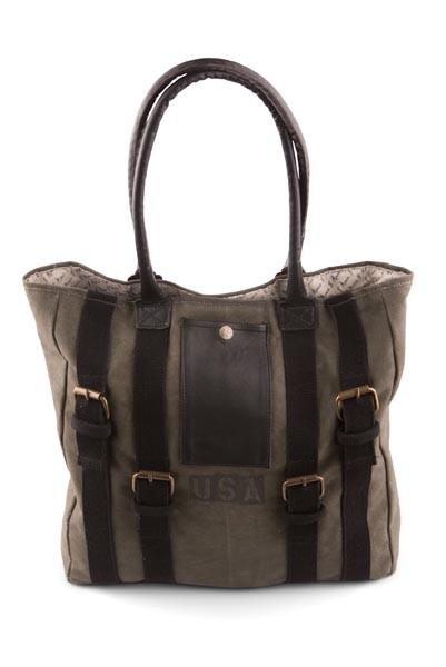 Strapped USA Stamped Handbag