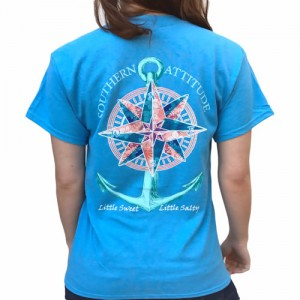 Mosaic Compass Anchor with A Little Sweet, A Little Salty Tee